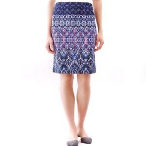 J.Jill Patterned Pencil Skirt